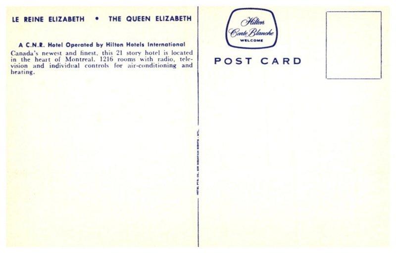 Canada Montreal , The Queen Elizabeth