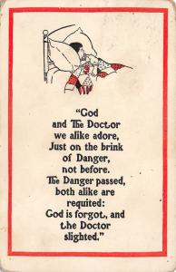 Comic Poem~God & Doctor We Adore~Brink of Danger Not Before~Boy~Patchwork Quilt