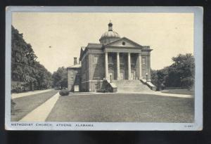 ATHENS ALABAMA METHODIST CHURCH VINTAGE POSTCARD