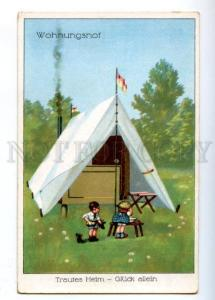 176911 Types of HOUSE Home LITTLE KIDS in Tent Vintage PC