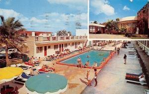USA Miami Beach Collins Ave, Sun Ranch Resort Motel, At The Waterwheel 1961