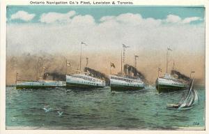 Ontario~Ontario Navigation Co's Steamship Fleet~Lewiston & Toronto~1920s