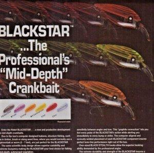 1987 Rebel Blackstar Crankbait Old Fishing Lures Print Ad