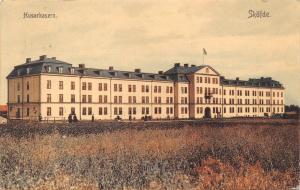 SKOVDE SWEDEN HUSARKASERN-MILITARY BARRACKS POSTCARD c1910s
