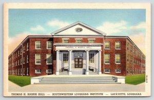 Lafayette Louisiana~Southwestern State Institute~Thomas Harris Hall~1939 Linen