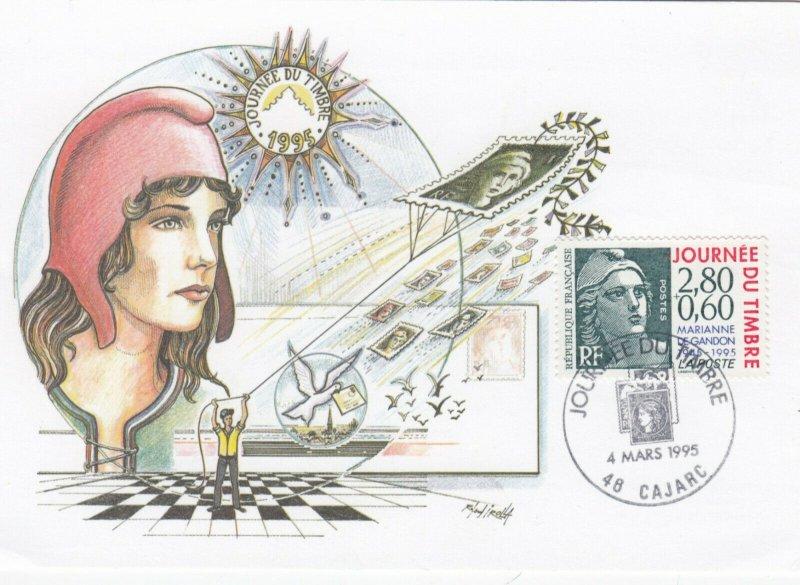 CAJARC, France , 1995 ; Journee Du Timbre 1995
