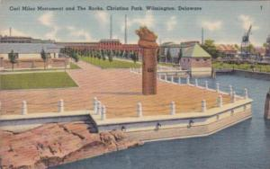 Delaware Wilmington Carl Miles Monument and The Rocks Christina Park