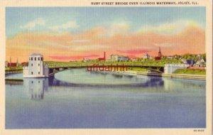 RUBY STREET BRIDGE OVER ILLINOIS WATERWAY, JOLIET, IL