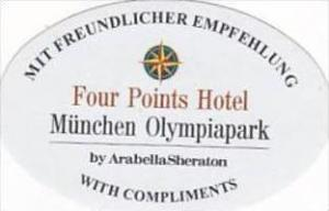 GERMANY MUENCHEN FOUR POINTS HOTEL VINTAGE LUGGAGE LABEL