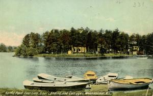 RI - Woonsocket. Harris Pond, East Side, Boat Landing & Cottages