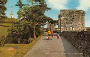 Vintage Kent Postcard, City Walls and Dane John, Canterbury FH4