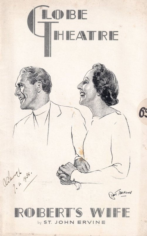 Roberts Wife Edith Evans The Globe Comedy Theatre Old Programme