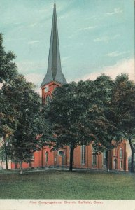 SUFFIELD,  Connecticut, PU-1908; First Congregational Church