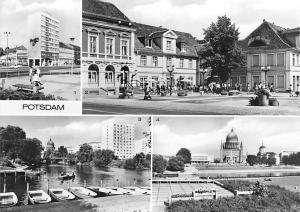 Potsdam An der Fritz Ebert Strasse Bootsverleih Nikolaikirche Kulturhaus