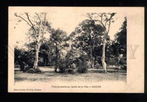 046960 VIETNAM SAIGON annamit Mine in garden Vintage