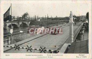 Old Postcard Irun International Bridges Automotive