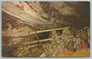 Mammoth Cave National Park Kentucky~Saltpetre Pipes In Caves~Vintage Postcard