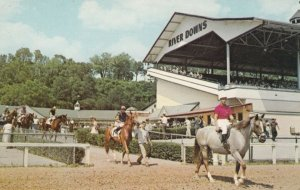 CINCINNATI , Ohio, 40-60s ; River Downs Horse Race Track