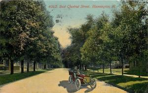 Bloomington Illinois~East Chestnut Street Homes~Red Vintage Automobile~1911 PC
