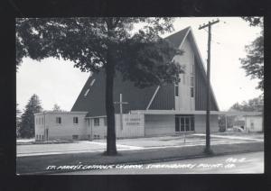 RPPC STRAWBERRY POINT IOWA ST. MARY'S CATHOLIC CHURCH REAL PHOTO POSTCARD