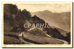 Old Postcard Vallee Aure Arreau The iron horse of the Route du Col d'Aspin