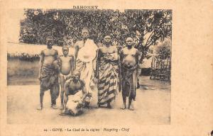 Cameroon Dahomey, Cove - Le Chef de la region, Hauptling Chief, Natives