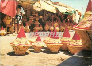 Postcard Modern Marrakech basketry merchants (bread baskets)