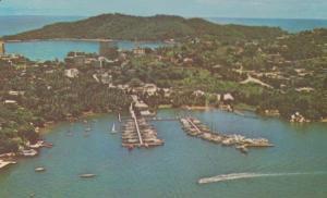 Mexico Mexican Yacht Yachting Club La Roqueta Aerial Acapulco Postcard