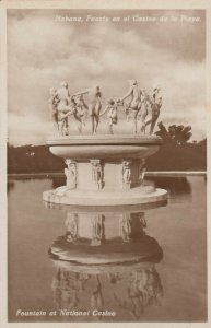 RP: HAVANA , Cuba , 00-10s ; Fountain at National Casino