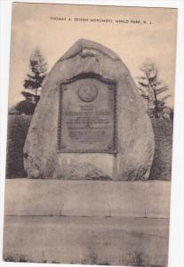 Thomas A. Edison Monument, MENLO PARK, New Jersey, 1900-1910s