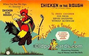 Golf Postcard Oklahoma City, OK, USA Chicken in the Rough