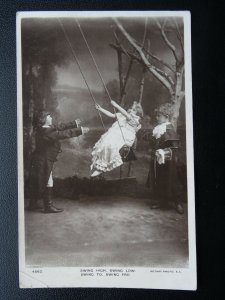 Children Playing on a Swing SWING HIGH, SWING LOW, SWING TO c1908 RP Postcard