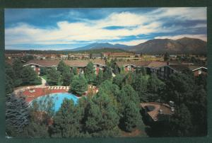 Little America FLAGSTAFF ARIZONA Swimming Pool Hotel Motel Postcard