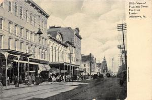 Allentown Pennsylvania~Hamilton Street East @ Lumber~Crowd @ Storefronts~1907