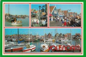 Netherlands Volendam Harbor and Village Scene