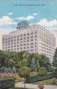 Minnesota Rochester Hotel Kahler 1947
