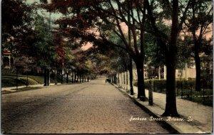 ATLANTA, Georgia  GA   JACKSON STREET Scene  ca 1910s  Postcard