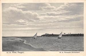 German East Africa Tanzania River Pangani, Boats, Postcard