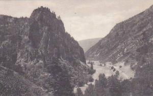 Colorado Glenwood Springs Tunnel Point Glenwood Canon Albertype