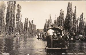 Mexico Xochimilco Canal Scene Photo