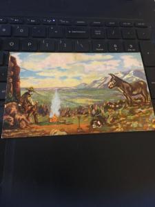 Vintage Postcard; Precious Gold  L.H. Dude Larsen