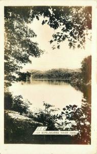 Lake Hope 1940s Zaleski State Park Ohio RPPC Photo Postcard 3515