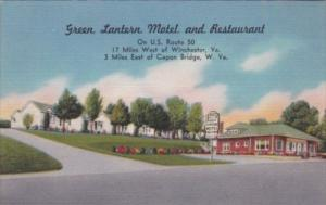 Green Lantern Motel and Restaurant Route 50 Capon Bridge West Virginia