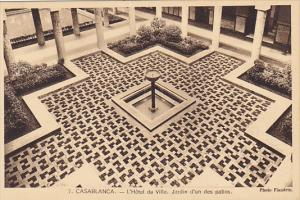 Morocco Casablanca L'Hotel de Ville Jardin d'un des patios