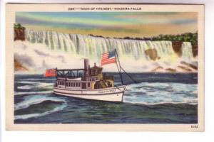 Maid of the Mist, US and Canadian Flags, Niagara Falls, New York
