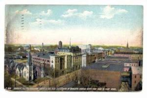 Industrial Centre looking North from Dome of Court House, Charlotte, North Ca...