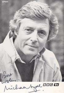 Michael Aspel Vintage 1970s BBC Hand Signed Cast Card Photo