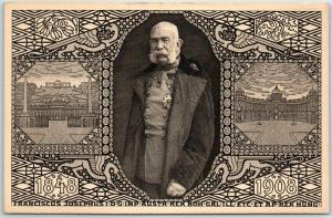1908 FRANZ JOSEPH I Postcard Commemorating 60 Years as King of Lombardy–Venetia