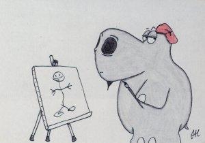 Hippopotamus artist , 1985