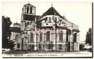 Postcard Old Vezelay apse of the Basilica of the Madeleine